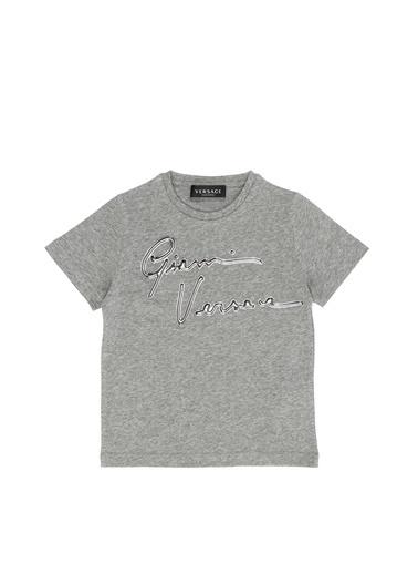 Versace Polo Yaka T-shirt Gri
